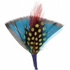 Hat Trim Feather Fan Shape 7cm Turquoise/black/red/yellow